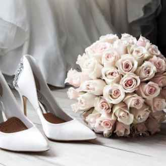 pexels-photo-shoes and bouquet